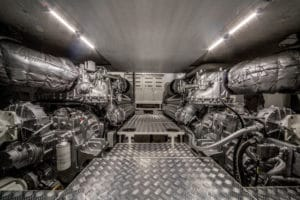 Engines Room Filippetti Fly Bridge Yacht