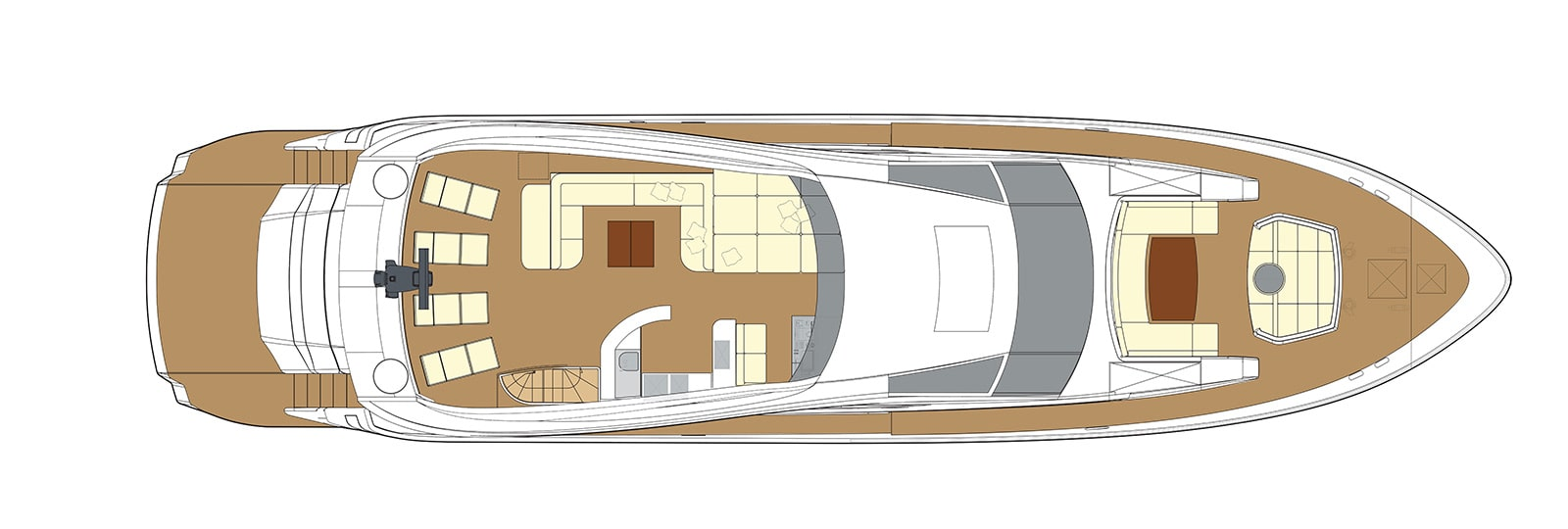 F93 Upper Deck - Fly Bridge Yacht