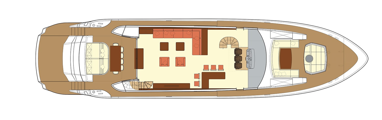 F93 Main Deck - Fly Bridge Yacht