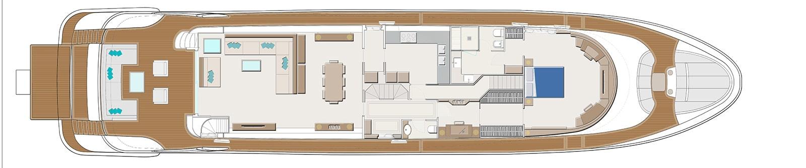Navetta 35 metri - Main Deck