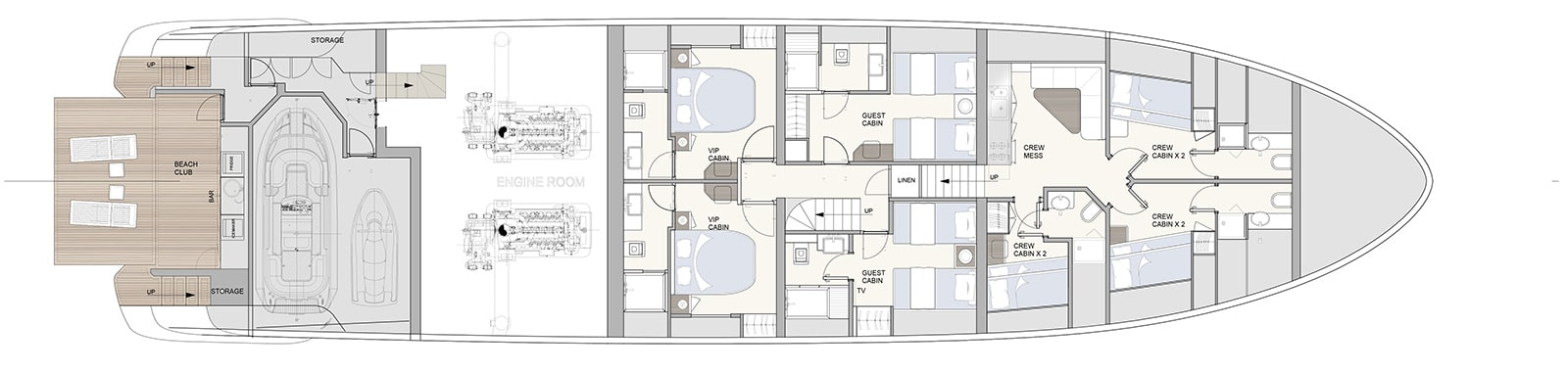 E32 Lower Deck- Explorer Yacht