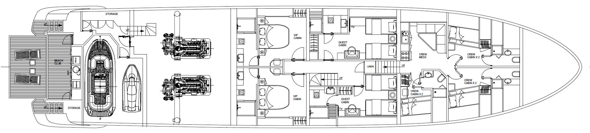 Explorer E36 - Lower deck