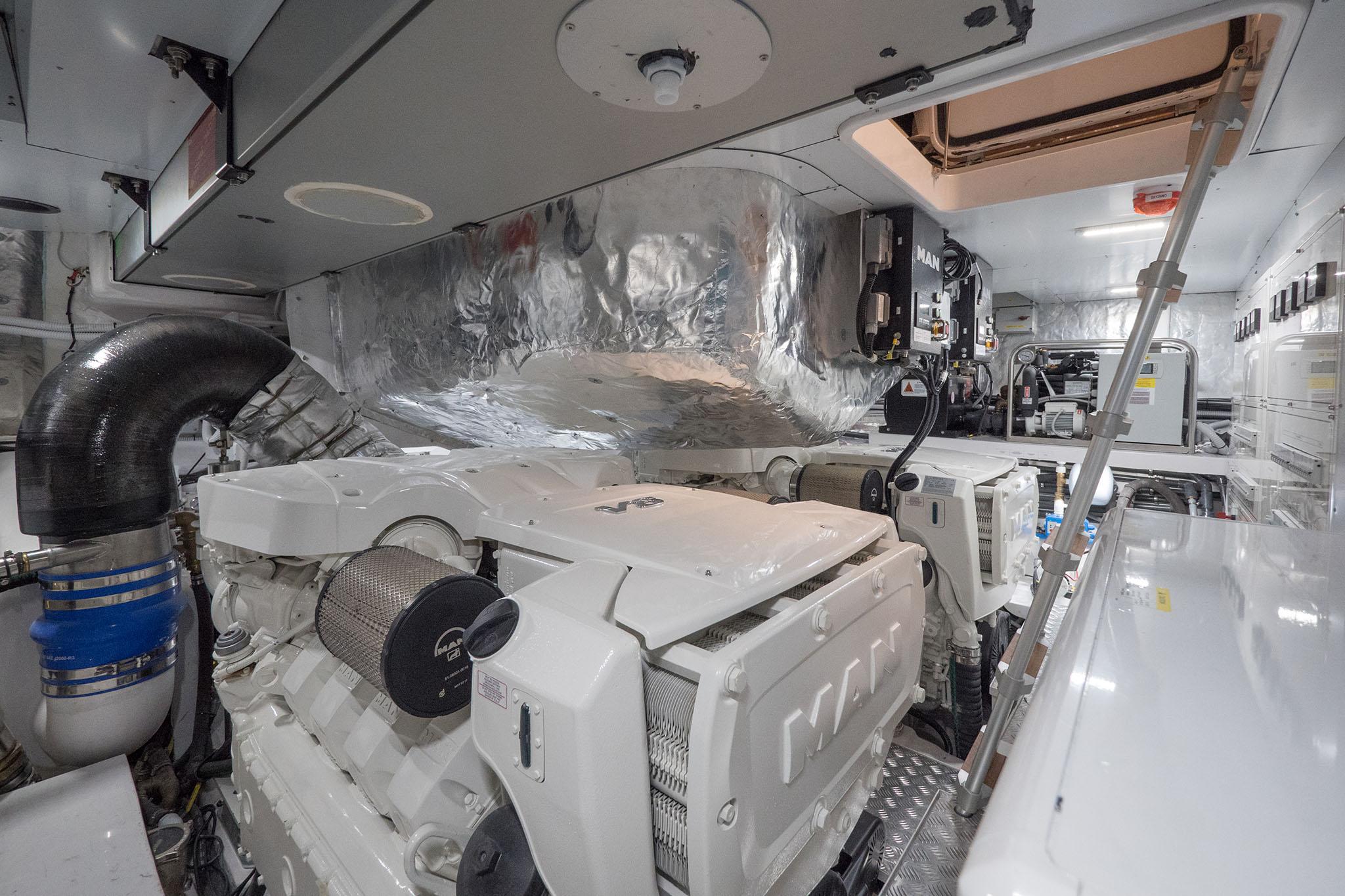 Sala macchine motorizzazione Man