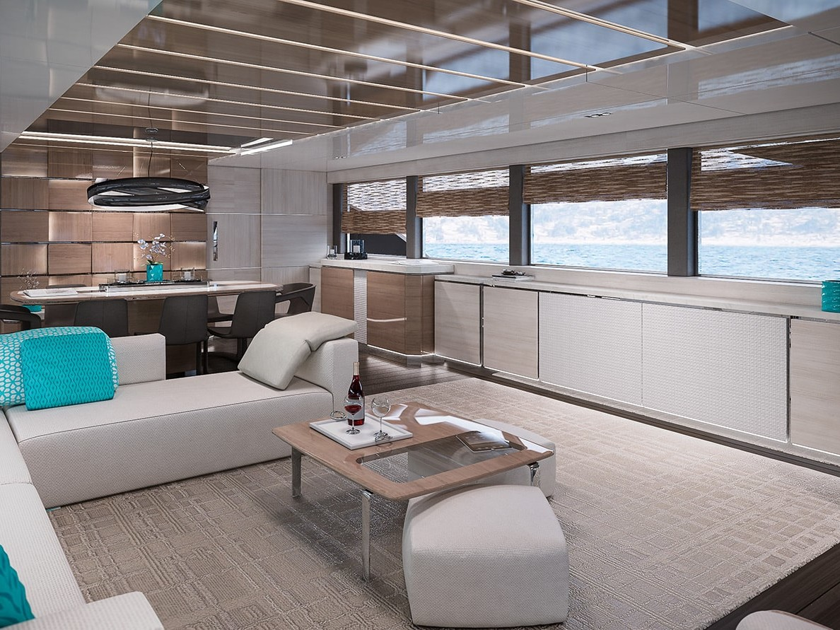 Displacement hull Navetta 35 meters