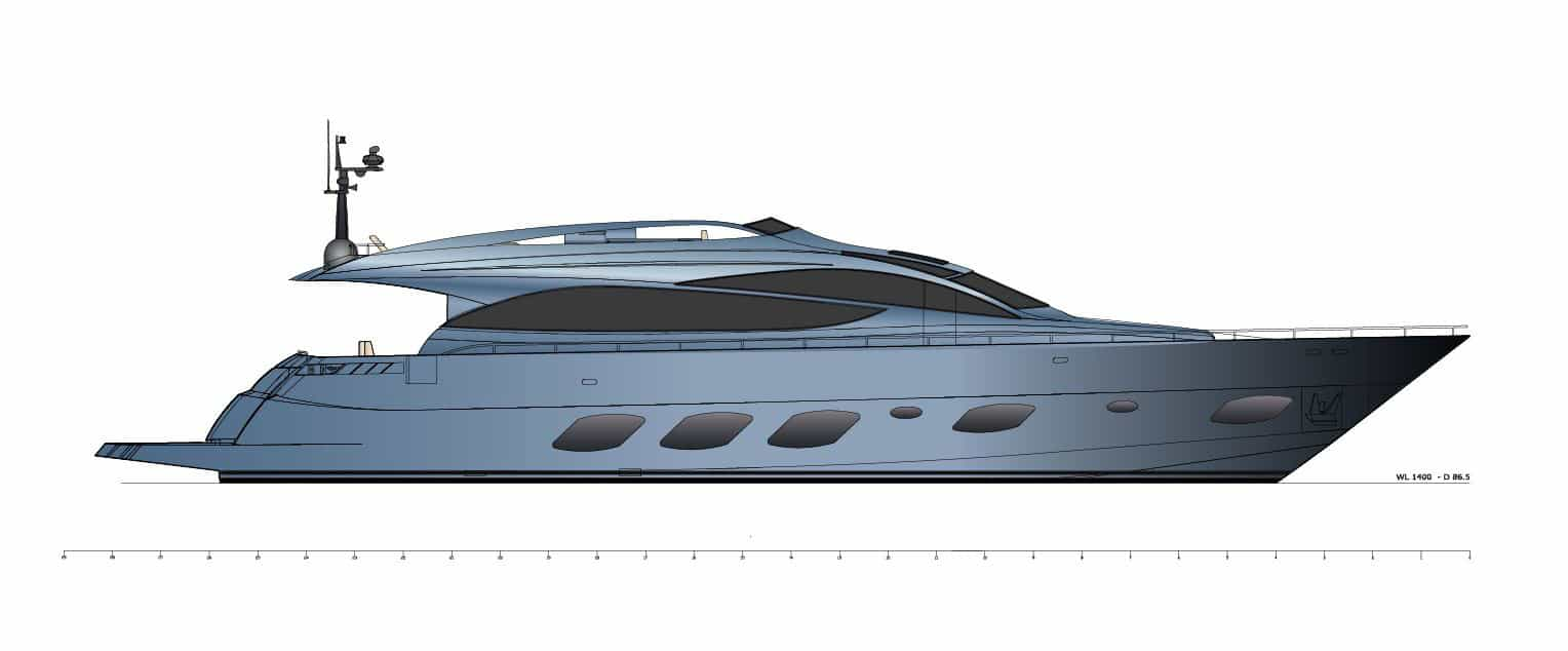 F93 Profile - Fly Bridge Yacht