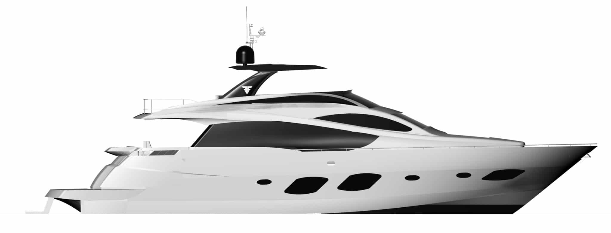 Fly Bridge Yacht 76 New Design