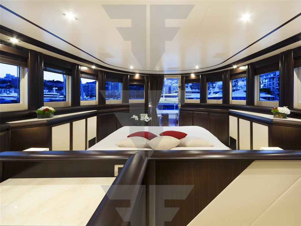Yacht with private deck for sale